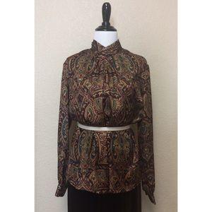 {Heritage Road} vintage patterned blouse